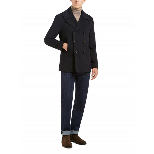 Pure Wool Navy Peacoat - croftonandhall