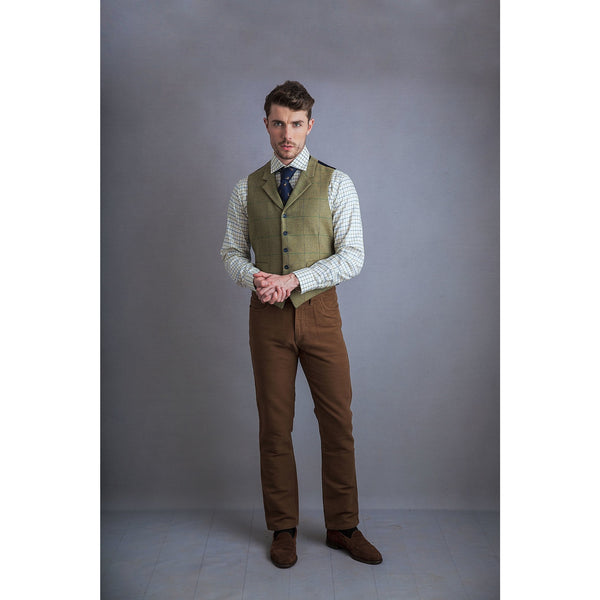 Christopher Waistcoat in Pear Green - croftonandhall