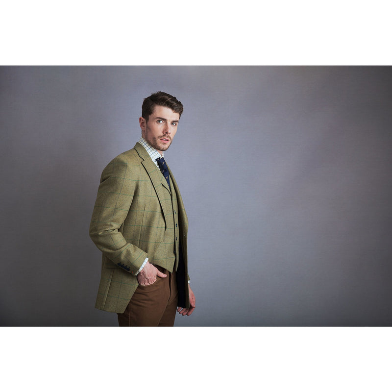 Watson Jacket in Pear Green Tweed - croftonandhall