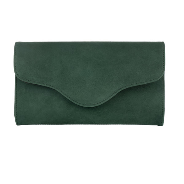 Clutch - Dark Green Suede - croftonandhall
