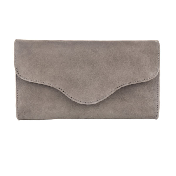 Clutch - Dark Grey Suede - croftonandhall