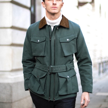 Twin Track Jacket in Forest Green - croftonandhall