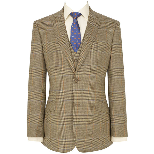 Dollis Three Piece Tweed Check Suit - croftonandhall