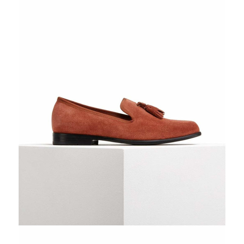 Tassel Suede Loafers in Tobacco - croftonandhall