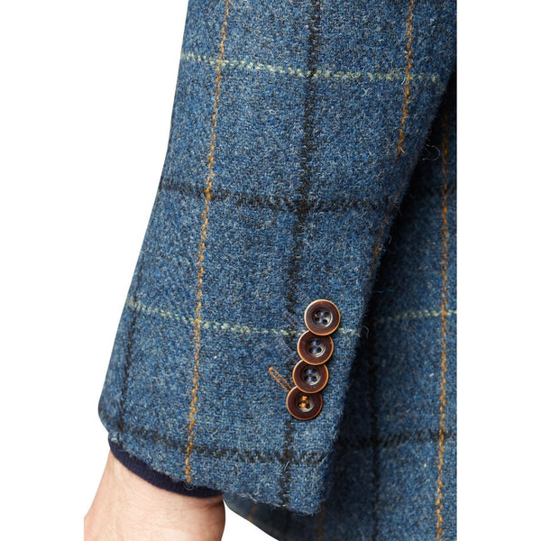 Ensay Harris Tweed Blue Blazer - croftonandhall