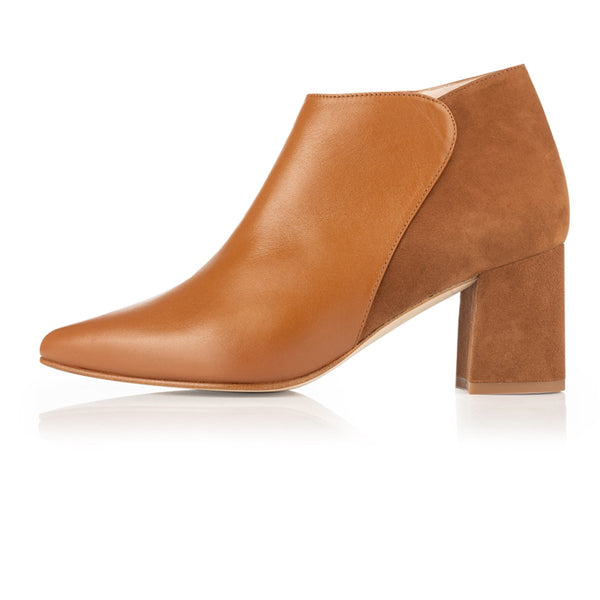 Hero Wide Fit Boots Tan Suede and Leather - croftonandhall