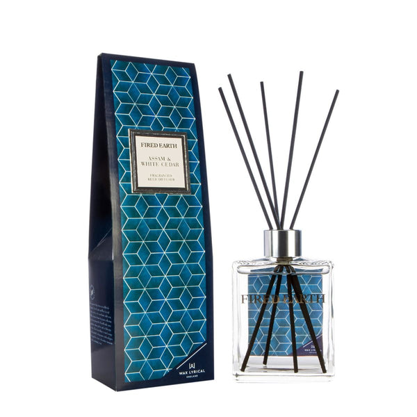 Fired Earth Assam & White Cedar 180ml Reed Diffuser - croftonandhall