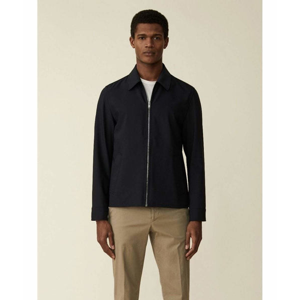 Navy Zip Up Over Jacket - croftonandhall