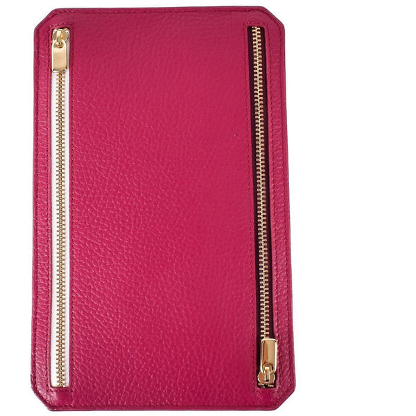 Zipped Travel Organiser in Heather - croftonandhall