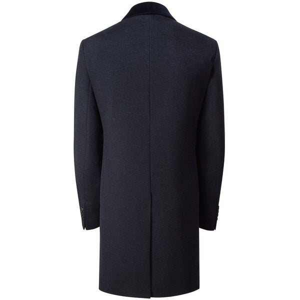The Ultimate Pure Cashmere Navy Retro Coat - croftonandhall