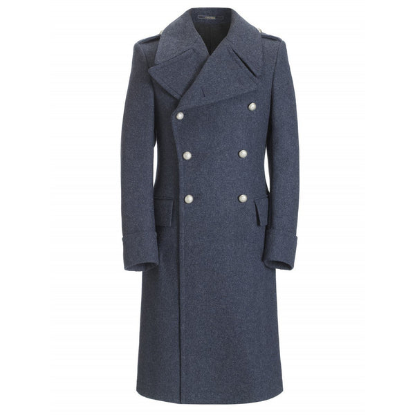 Pure Wool Air Force Blue Great Coat - croftonandhall