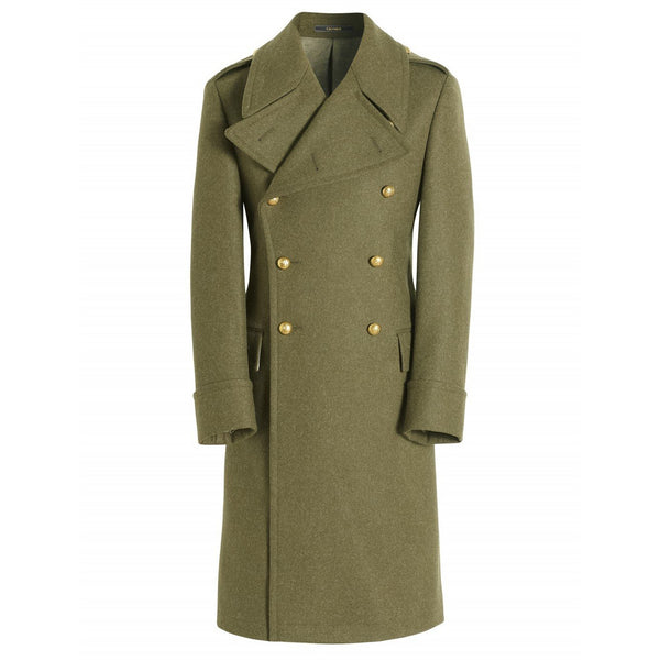 Pure Wool Army Great Coat - croftonandhall