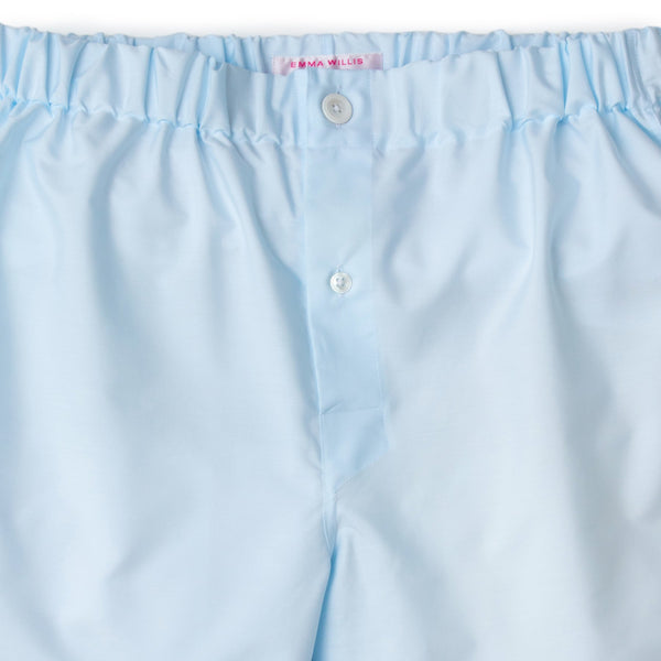 Ice Blue Superior Cotton Boxer Shorts - croftonandhall