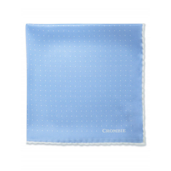 Blue & White Polka Dot Pocket Square - croftonandhall