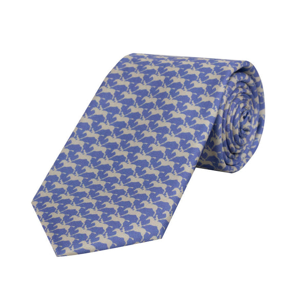 Royal Ascot Horse & Jockey Silk Tie in Parma and Pearl - croftonandhall