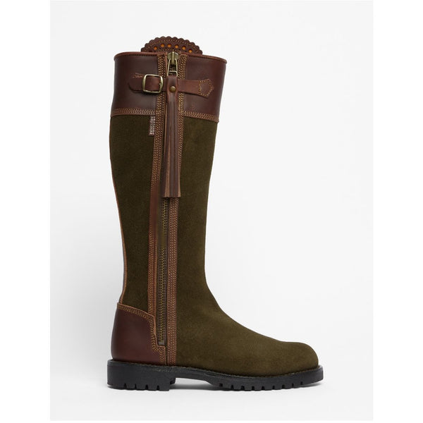 Inclement Tassel Boot in Seaweed/Conker - croftonandhall