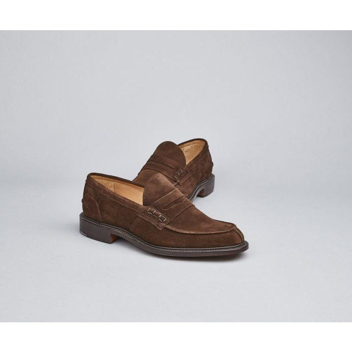 James Penny Loafer in Chocolate Suede - croftonandhall