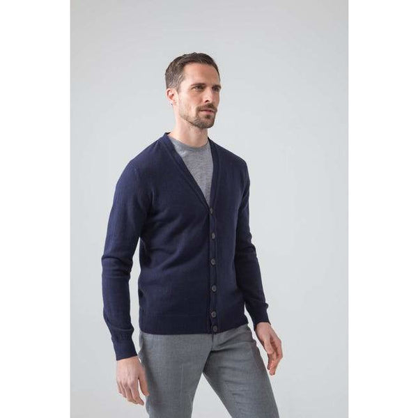 Classic Cashmere Cardigan in Navy
