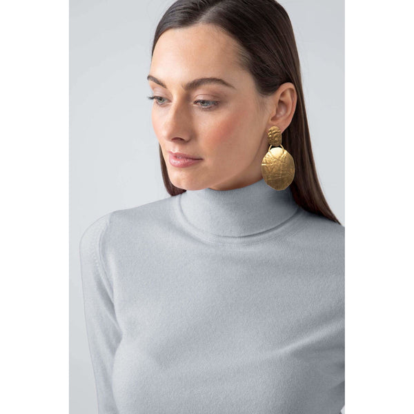 Classic Roll Neck Cashmere Jumper in Silver - Crofton & Hall