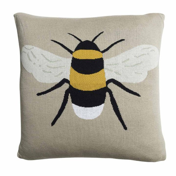 Bees Knitted Cushion - croftonandhall