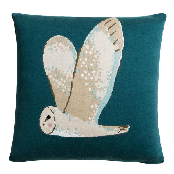 Owl Knitted Cushion - croftonandhall