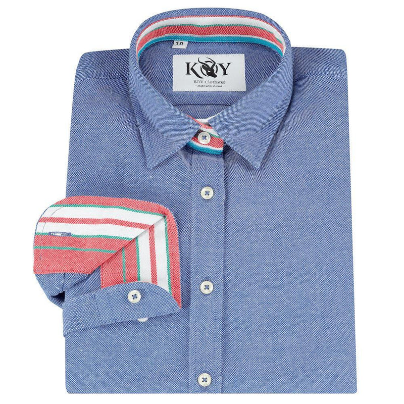 Kikoy Ladies Navy Shirt - croftonandhall