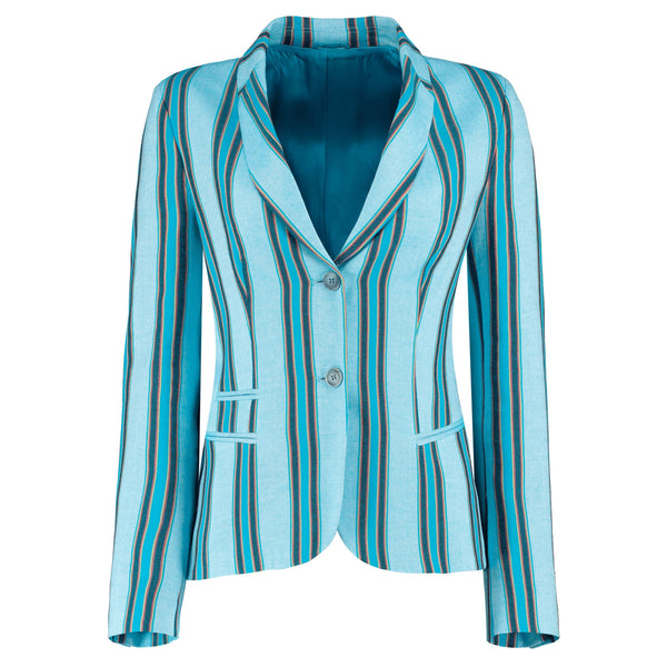 Blue Striped Sporting Jacket - croftonandhall