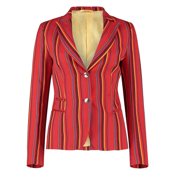 Ladies Red Striped Mara Jacket - croftonandhall