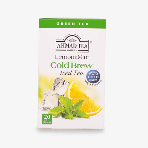 Lemon & Mint Cold Brew Iced Green Tea Bags - croftonandhall