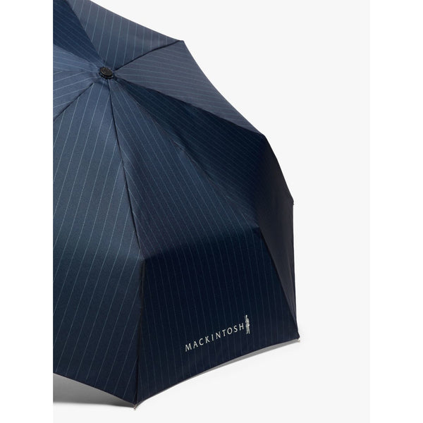 Ayr Navy Pinstripe Telescopic Umbrella - Crofton & Hall
