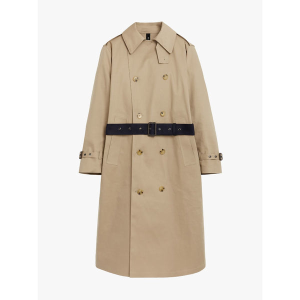 Berlin Fawn/Ink Bonded Cotton Trench Coat - croftonandhall