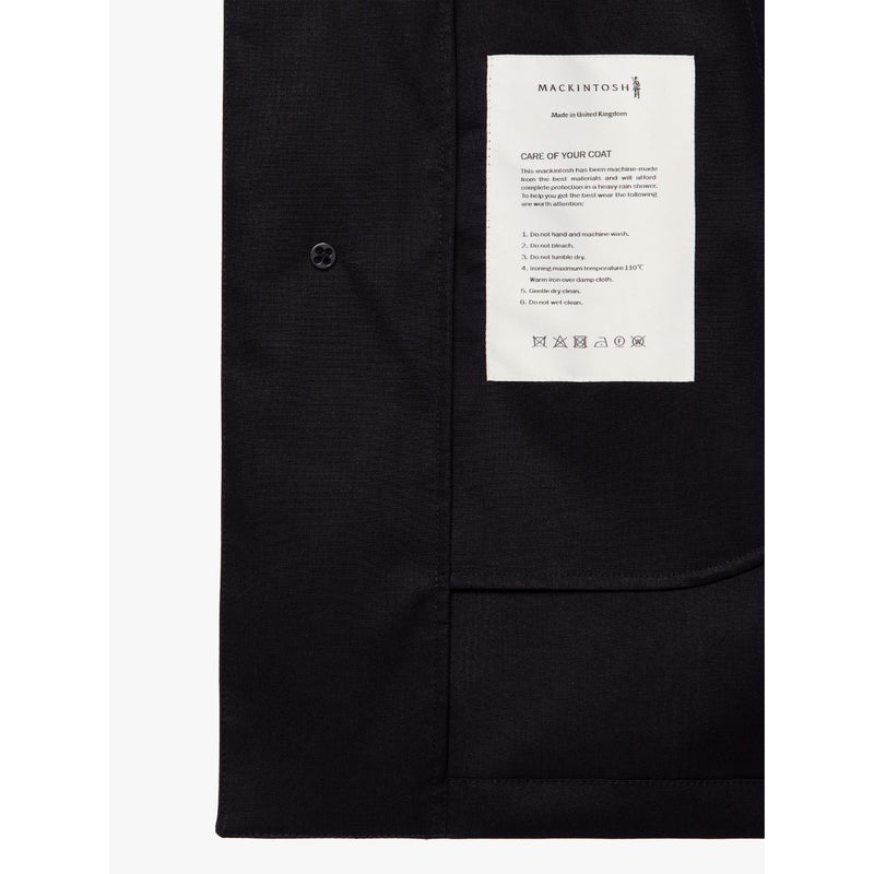 Cambridge Cotton Raintec Black Raincoat - croftonandhall