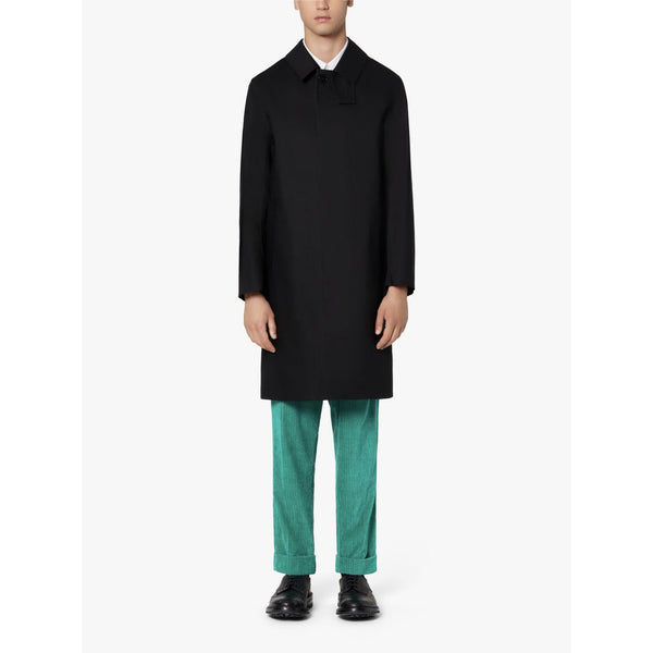 Oxford Black Bonded Cotton 3/4 Coat - Crofton & Hall