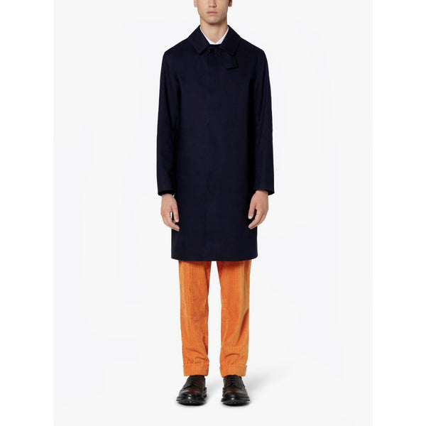 Oxford Navy Bonded Cotton 3/4 Coat - croftonandhall
