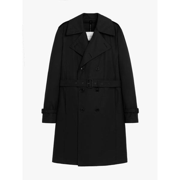 St Andrews Black Cotton Trench Coat - croftonandhall