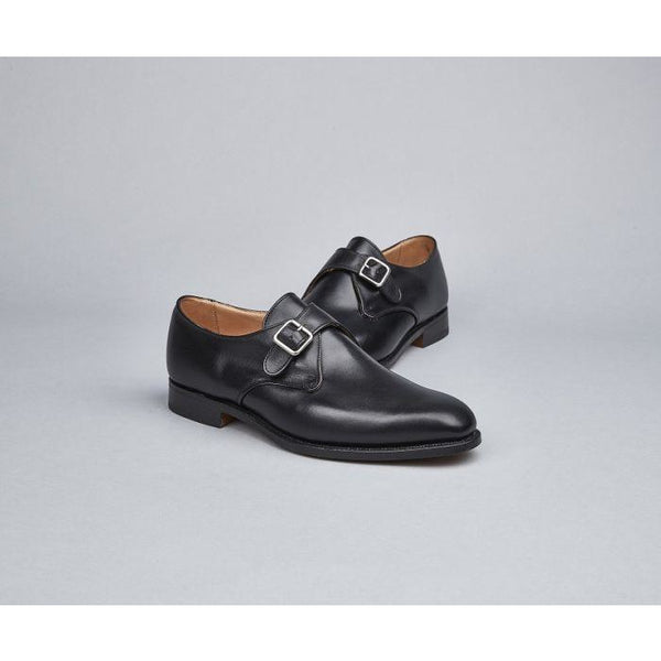 Mayfair Monk Shoe in Black - croftonandhall