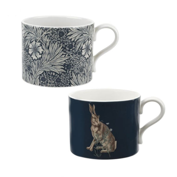 The Original Morris & Co Marigold & Hare Mugs Set of 2 Mugs - Crofton & Hall
