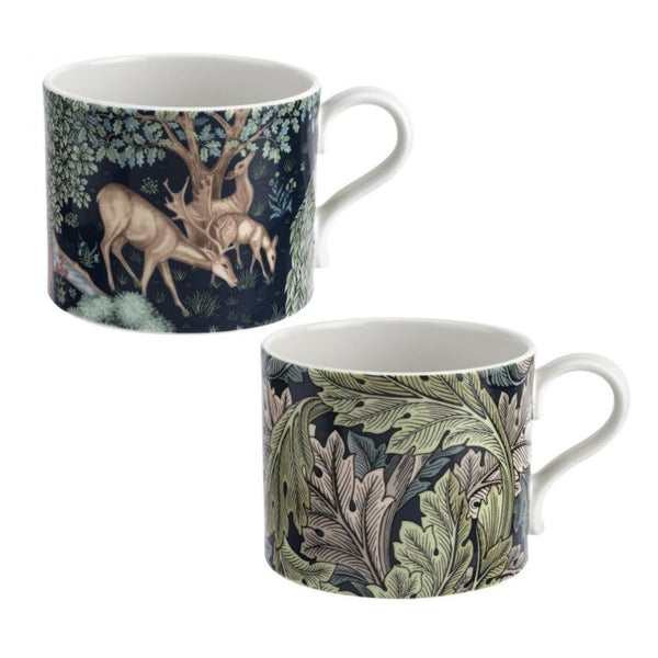 The Original Morris & Co Mugs Brook & Acanthus Set of 2 Mugs - croftonandhall