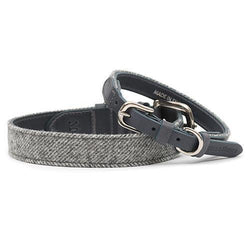 Stoneham Tweed & Leather Dog Collar - croftonandhall