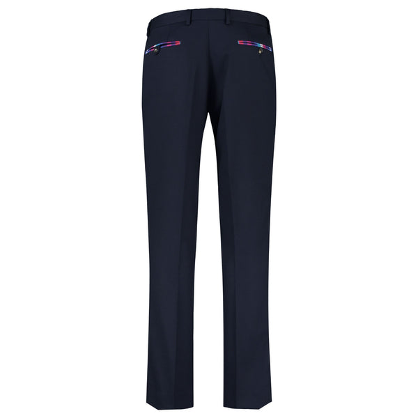 Navy Suit Trousers (100% Wool) - croftonandhall