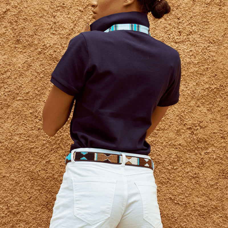 Navy Polo Top - Luo - Crofton & Hall