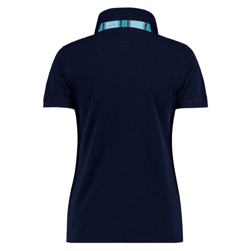 Navy Polo Top - Luo - croftonandhall