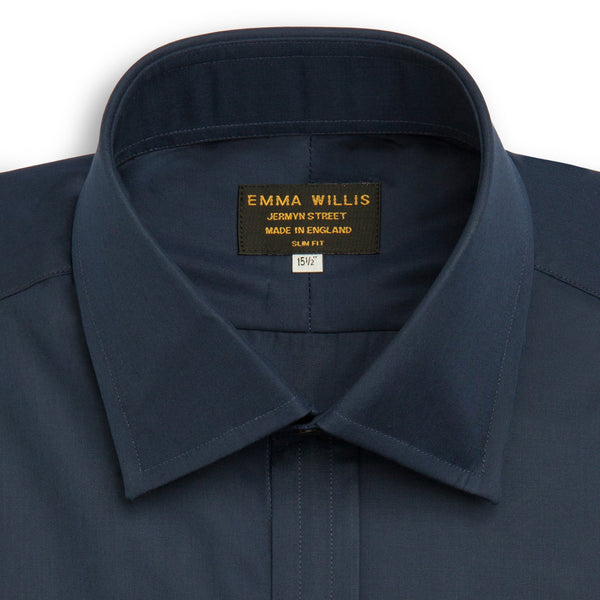 Navy  Superior Cotton Shirt - croftonandhall