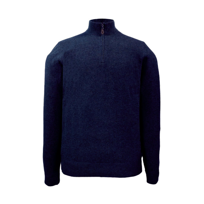Cairns Half Zip in Dark Navy - croftonandhall