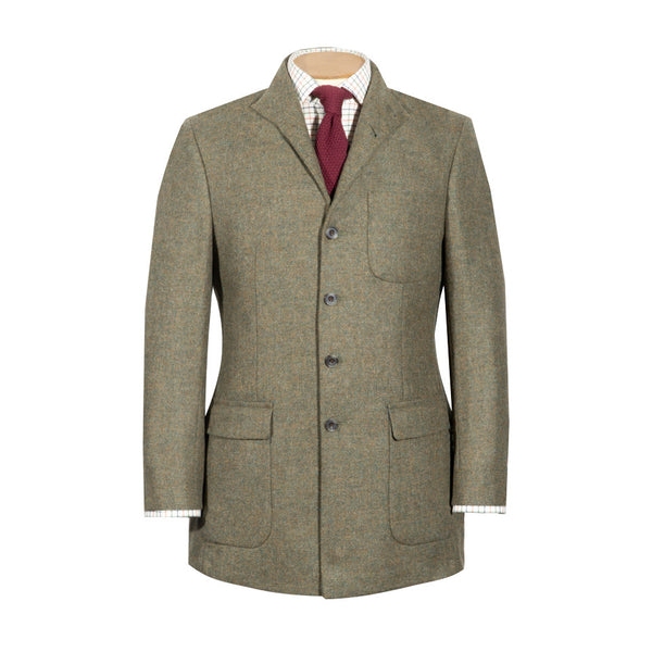 Nehru Country Jacket in Teviot Tweed - croftonandhall