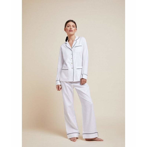 Coco White Cotton Pyjamas - croftonandhall