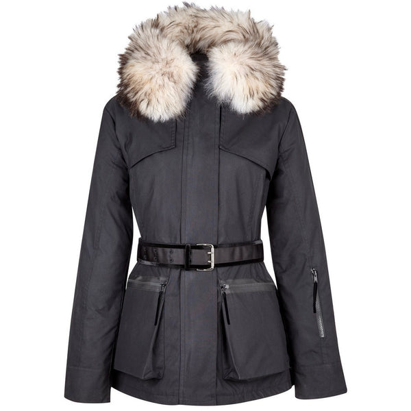 Amanda Wakeley x Troy London Elements Wax Parka in Black - croftonandhall