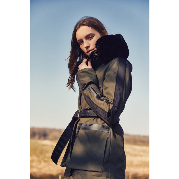 Amanda Wakeley x Troy London Elements Wax Parka in Khaki - croftonandhall