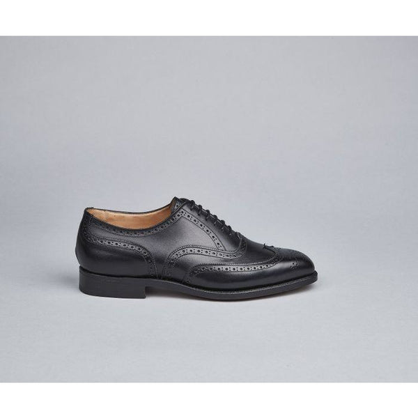 Piccadilly Brogue Oxford in Black - croftonandhall