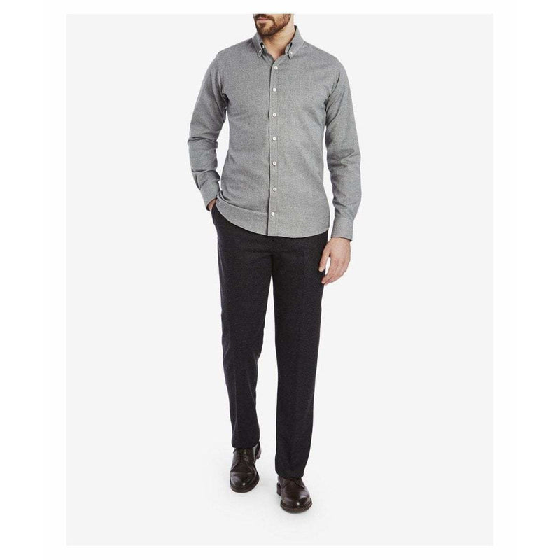 Brushed Cotton Button Down Shirt in Grey - croftonandhall